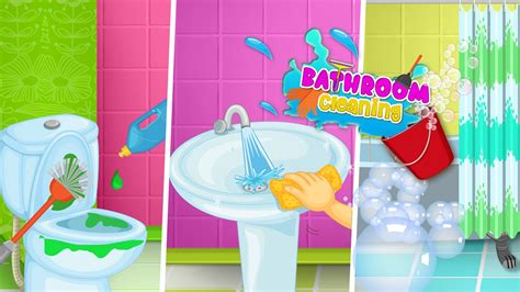 clean up bathroom games princess bathroom clean up toilet games for kids for
