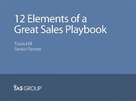 Sales Webinar 12 Elements Of A Great Sales Playbook Sales Playbook Template