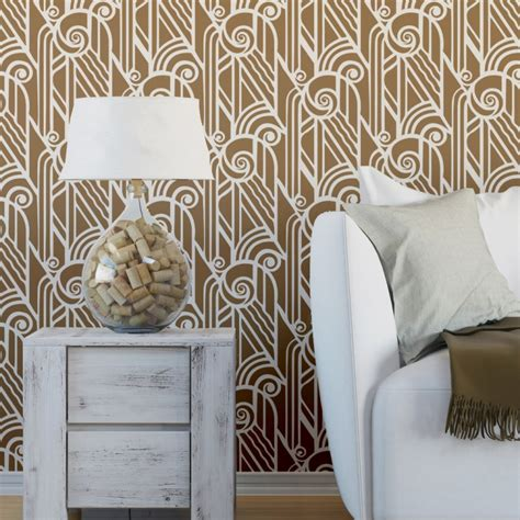 wall stencil reusable stencils for wallpaper look