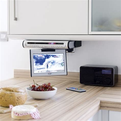 small kitchen tv drop down tv in kitchen nexus 21 kitchen tv kitchens decorating ideas housetohome co uk