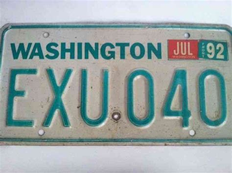 Vanity Plates Washington by Washington License Plate