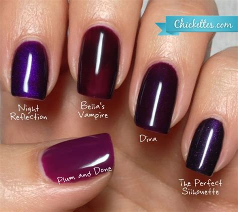 gelish color swatches chickettes gelish swatches purples products i