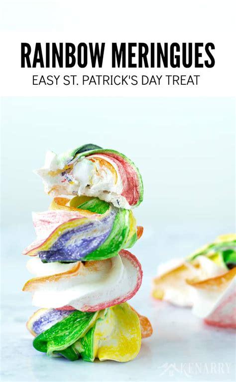 easy st s day rainbow meringues easy st s day recipe kenarry
