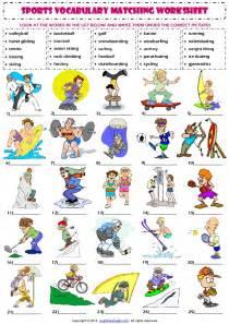 sports vocabulary matching exercise worksheet 1