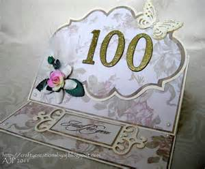 crafty creations by a j 100 years wow - Birthday Card 100 Years