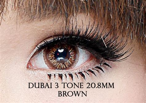 Softlens Coco Eye 3 Tones Brown Coklat jual softlens dubai 3 tones brown coklat geo