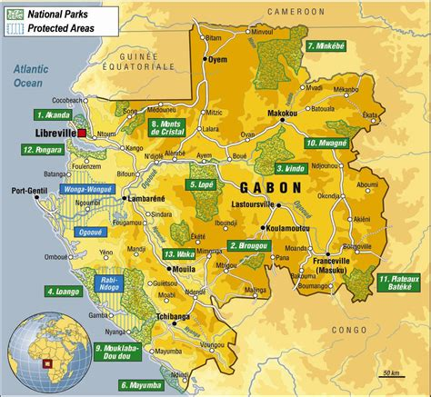 gabon maps detailed tourist map of gabon gabon detailed tourist map