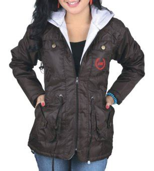 catenzo jaket parka wanita best seller taslan brown