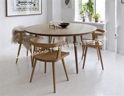 Meja Kayu Bundar meja makan bundar set minimalis 4 kursi jayafurni meubel jayafurni meubel