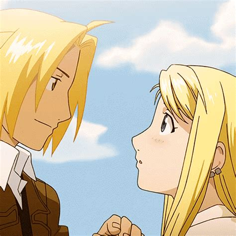 fullmetal alchemist brotherhood edward and winry kiss fullmetal alchemist brotherhood edward and winry