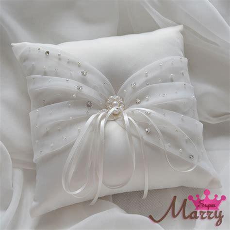 wedding ring pillow 21cm satin ring cushion handmade cheap