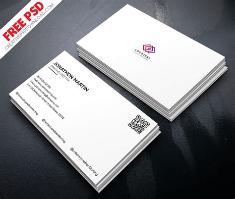 minimalist business cards templates psd minimalist business card free psd
