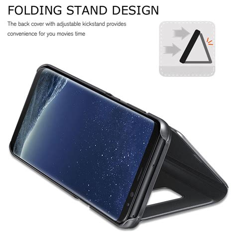 Samsung Galaxy J7 2017 J720 Flipcase Mirror Smart Flip Cover Casing for samsung galaxy j3 j5 j7 pro 2017 clear view mirror leather flip smart ebay