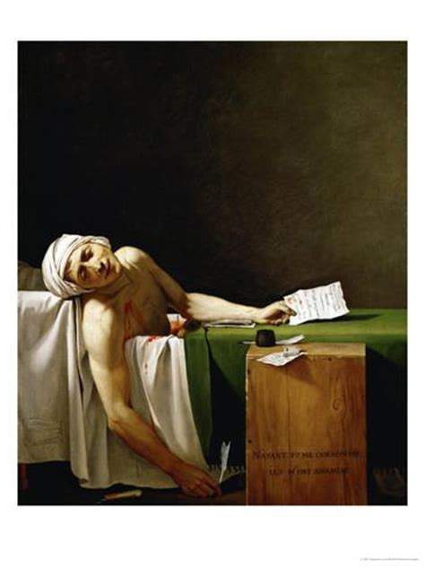 Jean Paul Marat Politician Dead In His Bathtub Assassinated By Charlotte Corday In