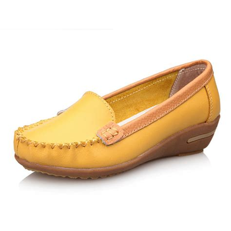 Comfortable Leather Flats by Flats Shoes Casual Outdoor Soft Comfortable Leather