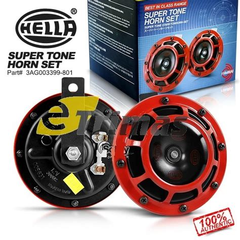 Klakson Hella Motorcycle Horn Set hella tone high low disc horn set with relay hella automotive automotive lighting