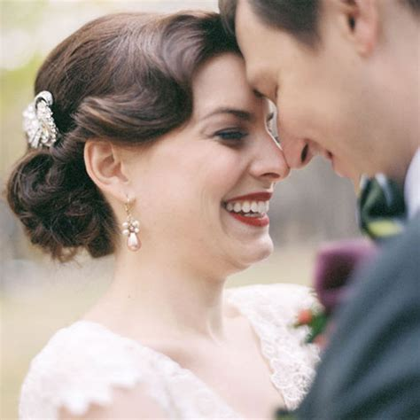 Wedding Hair Updo Vintage vintage inspired wedding updo vintage style updo with
