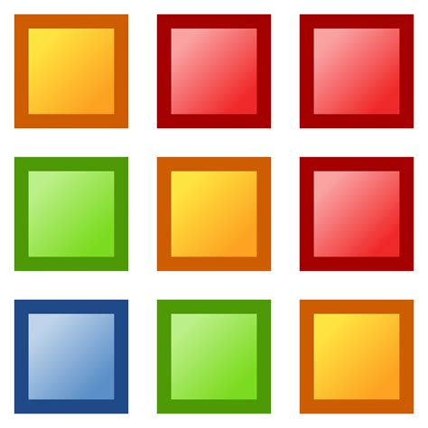 color square squares clipart colored pencil and in color squares
