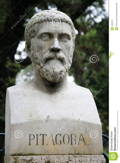 sculpture  pythagoras royalty  stock photography