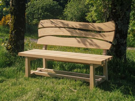 garden furniture benches memorial bench oak garden furniture penzance cornwall samuel f walsh