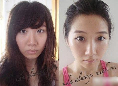 Set Make Up V Asia a bunch of with and without makeup