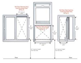 is there a minimum size for a bedroom size requirement for a egress bedroom window