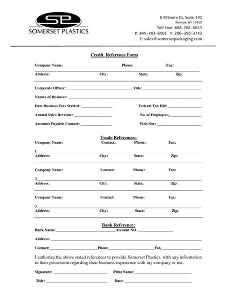 Credit Reference Form Template Best Photos Of Printable Credit Reference Form Printable Two Week Notice Letter Form Credit