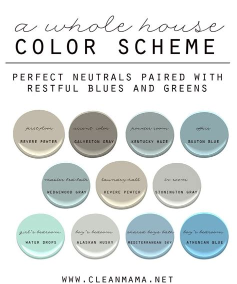whole house color palette 2017 how to choose a color scheme for your home clean mama
