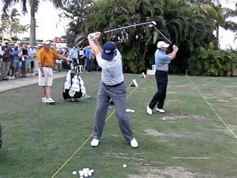 ernie els iron swing luke donald slow motion golf swing doovi