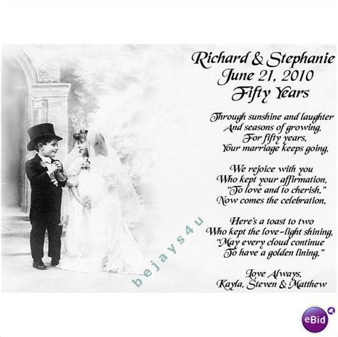 50th wedding anniversary poems 50th anniversary poems and quotes quotesgram