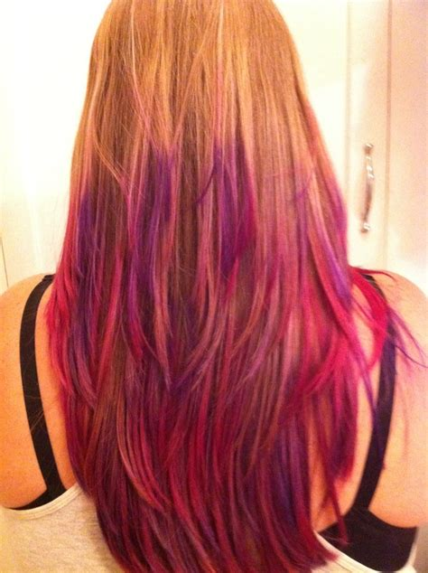 pink and purple ombre my summer hair pink and purple ombre my style pinterest
