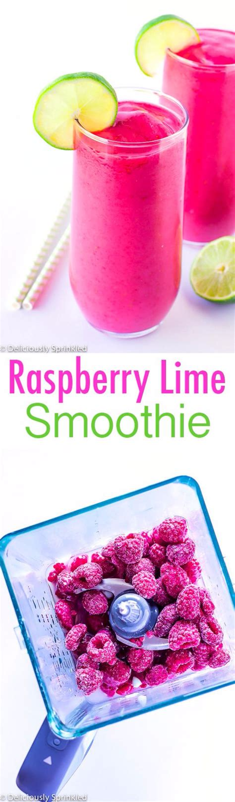 raspberry lime smoothie deliciously sprinkled 34 more healthy smoothie recipes