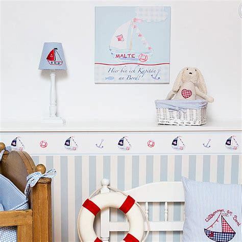 bordure kinderzimmer segelboot wandtattoos selbstkl maritime bord 252 re quot segelschiff qu