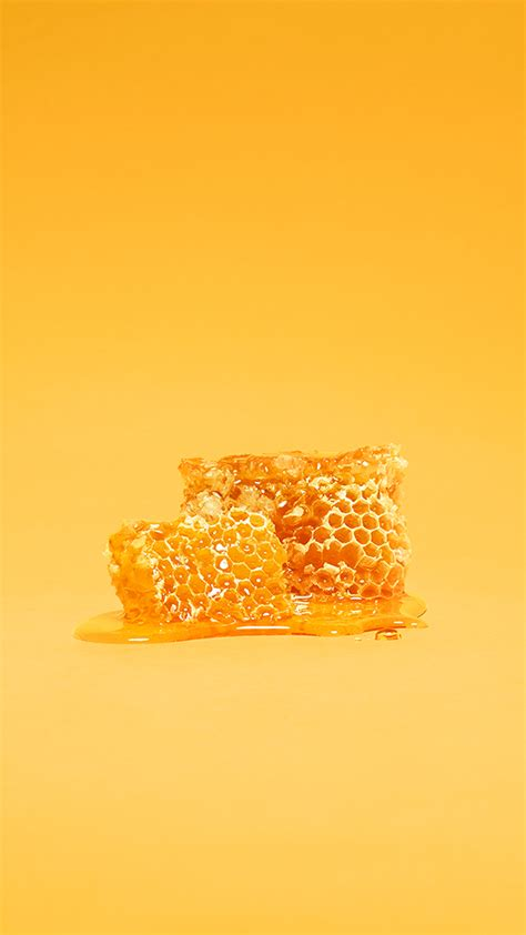 Honeycomb Yellow Android Wallpaper free download