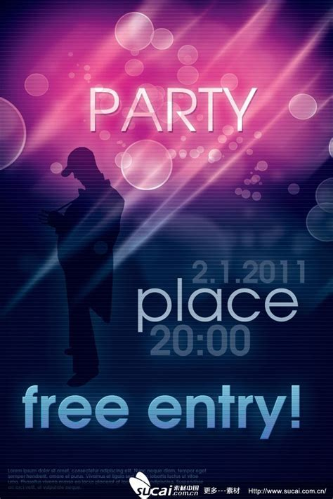 design poster party behind party poster psd design material my free