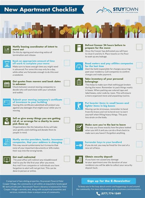 Apartment Checklist Move Out New Apartment Moving Checklist Infographic Wwa