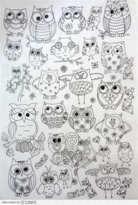 doodle owls wesołe s 243 wki rysunki wzory na stylowi pl
