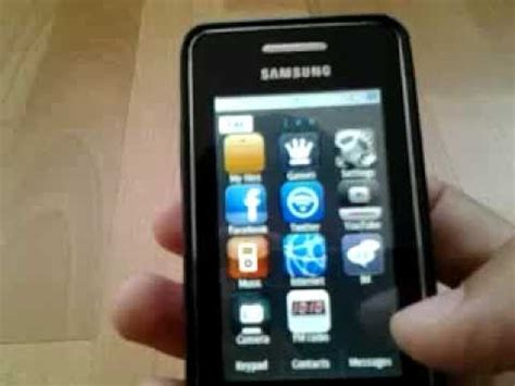 themes in samsung gt s3353 samsung gt s5260 different themes youtube