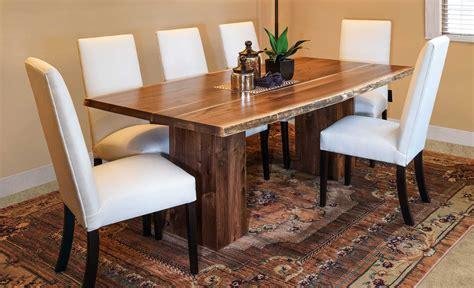 amish live edge table vista live edge trestle table amish direct furniture
