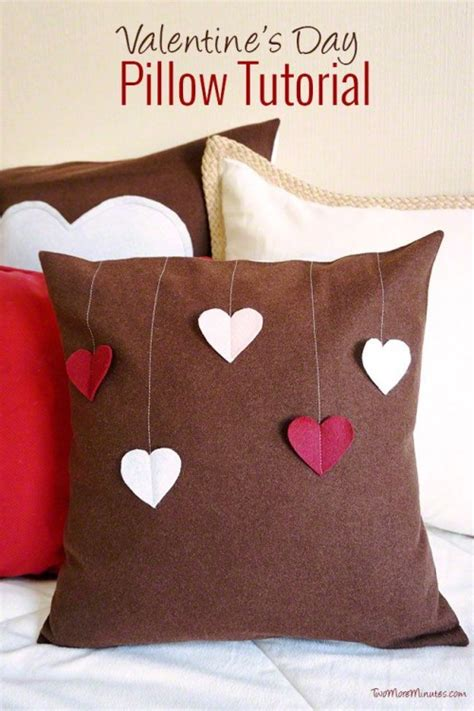 valentines pillows cool diy s day pillow shelterness