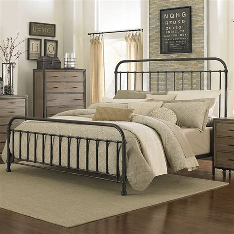 Decorating Bedrooms With Metal Beds by Shady Grove Iron Bed By Magnussen Home Metal Iron Panel