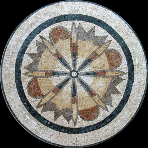 custom designed handcut marble mosaic medallions mediterranean wall and floor tile other