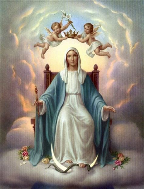 imagenes de jesus y maria en el cielo belles images assomption vierge marie dont anim 233