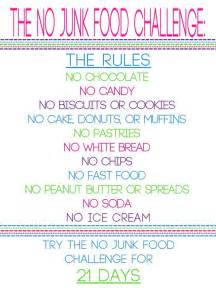 the no junk food challenge starting tomorrow no lie part of diet plan no extras and no junk