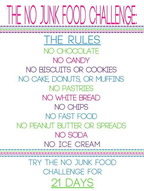 diet challenge the no junk food challenge starting tomorrow no lie