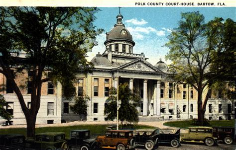 Polk County Court Search Florida Memory Polk County Court House Bartow Florida