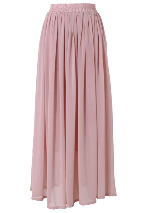 Maxi Pink pink maxi skirt retro and unique fashion