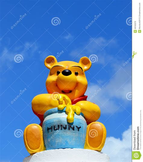 Boneka Winnie The Pooh Sitting Original winnie the pooh disney figure honey editorial image image 30163270