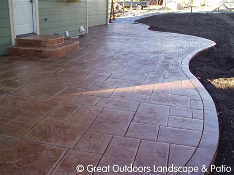 backyard concrete ideas denver colorado landscaping concrete patios more