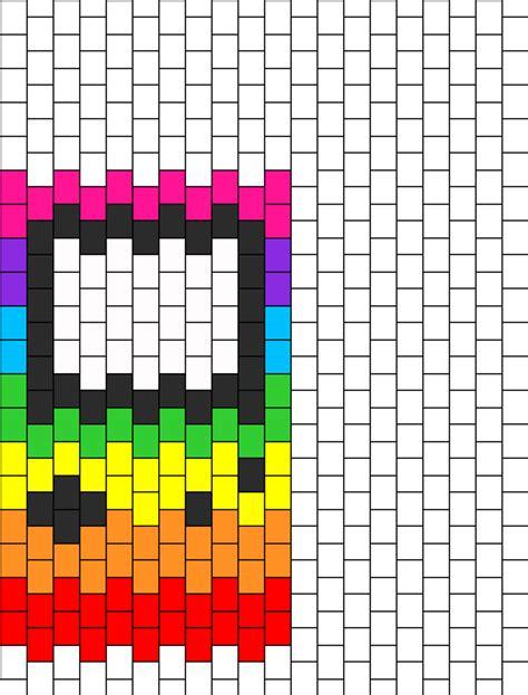 Gameboy Pattern rainbow gameboy bead pattern peyote bead patterns misc